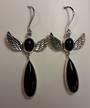 Onyx Angel Earrings