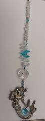 Mermaid Suncatcher with Moonstone Crystals