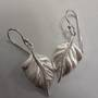 Sterling Silver Solid Leaf Earrings