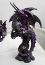 Medium Purple Jewelled Dragon On Rock