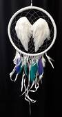Angel Wings with Purple and Jade Feathers Dreamcatcher (DC103)