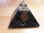 Black Tourmaline and Quartz Orgonite Pyramid