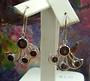 Sterling Silver Garnet Wing Earrings