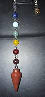 Red Jasper Pendulum with Chakra Chain (PMA11)