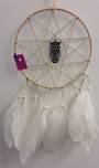 White Elf Star and Black Owl Dreamcatcher ES102