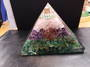 Large Green Aventurine, Amethyst, Rose Quartz and Quartz Orgonite Pyramid