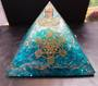 Large Blue Onyx, Opalite and Quartz Orgonite Pyramid