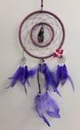 Purple Witch with Quartz Dreamcatcher