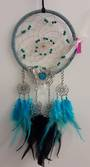 Turquoise Dreamcatcher with Metal Butterfly Detailing