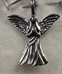 Sterling Silver Angel Pendant 2.5cm