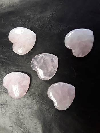 Rose Quartz Heart (CT)