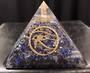 Large Lapis Crystal with Eye of Horus Orgonite Pyramid