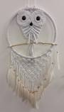 Owl with Long Net and Feathers 42cms
