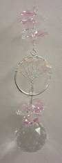 Rose Quartz Tree Crystals Suncatcher