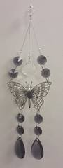 Dark Purple Double Butterfly Suncatcher