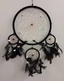 Black Dreamcatcher with Bone Beads