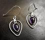 Amethyst Stone Earrings 4cm Drop