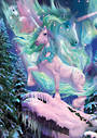 Aurora Unicorn Card and Envelope by David Penfound