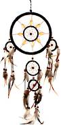 Dreamcatcher 16cm Black with Wood Accent