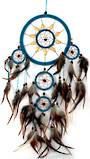 Dreamcatcher 16cm Turquoise with Wood Accent