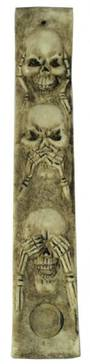 Hear No Evil Skull Incense Holder