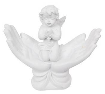 "Praying Cherub in ""Hands"""