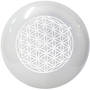 Selenite Sphere with Flower of Life Engraving