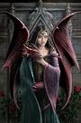 Soul Mates - Greetings Card and Envelope by Anne Stokes