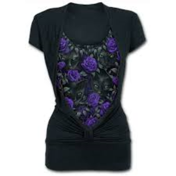 THE WATCHERS - Allover 2in1 Gathered Knot Short Sleeve L was $65 now $35