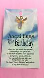 Angel Hugs For Your Birthday Angel Pin