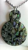 Patterned Double Twist Paua Necklace