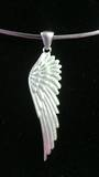 Brushed Silver Angel Wing Pendant