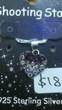 Crystal Evolution Purple Heart Pendant