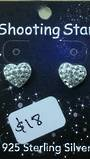 Crystal Evolution Small White Heart Studs