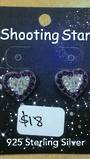 Crystal Evolution Large Purple/White Heart Studs