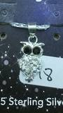 Crystal Evolution White Owl Pendant