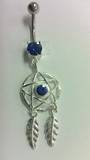 Dark Blue Star Dreamcatcher Belly Bar