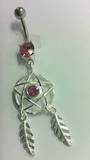 Pink Star Dreamcatcher Belly Bar