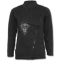IN GOTH WE TRUST - Slant Zip Women Biker Jacket Black XXL was $120 now $60