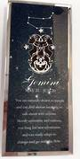 Gemini Starsign Glass Plaque