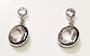 Petalite and White Topaz Stud Earrings