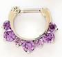 16g Fancy Purple Jewelled Septum Clicker