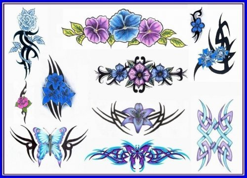 An abstract tribal butterfly tattoo design. Add to Cart: