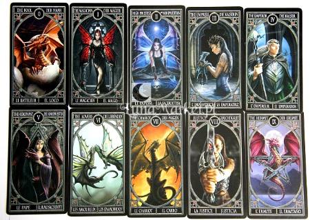 Anne Stokes Tarot Cards Gothic Black