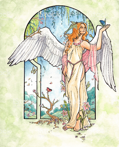 art nouveau angel-522