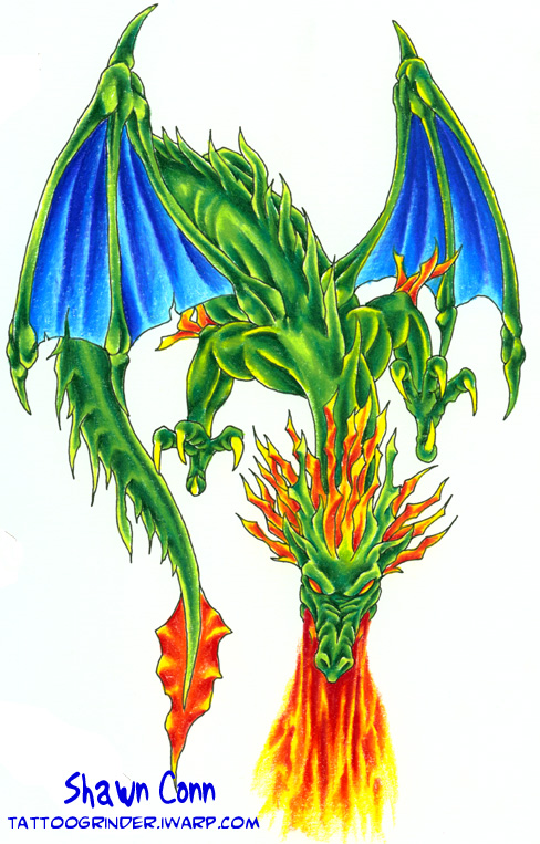 tattoo designs dragon. fire tattoo designs. dragon