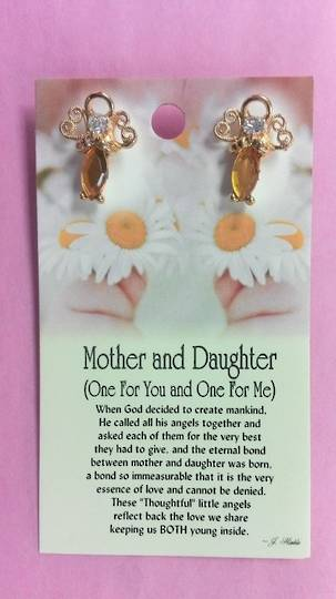 Mother and Daughter Angel Pins