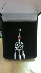 Red Web Dreamcatcher Navel Banana