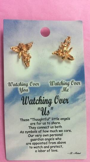 Watching Over Us Angel Brooch