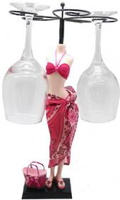 Pink Sunny Bay Wine Glass Stand was $45 now $25